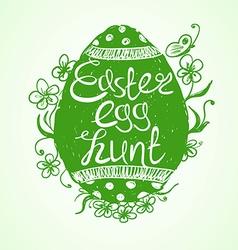 Creative easter egg hunt invitation vector