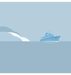 Cruise ship background vector image