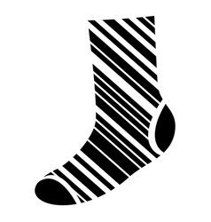 decoration sock icon simple style vector image