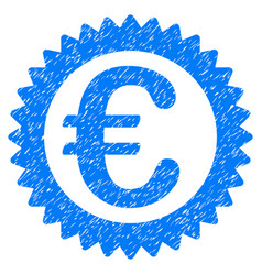 Euro reward stamp grunge icon vector