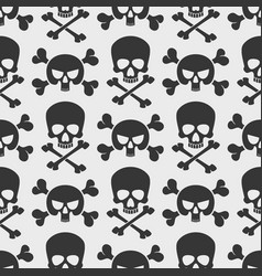 fashion seamless pattern with skulls and cross vector image