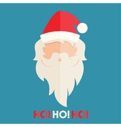 Flat design of Santa Claus vector image