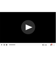 flat video player template for web and mobile apps vector image