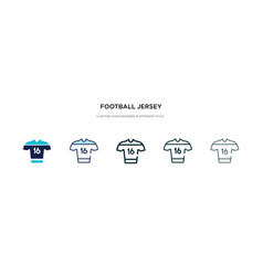 Football jersey icon in different style two vector