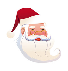 funny face santa claus christmas celebration image vector image