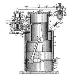 Gas engine vintage vector