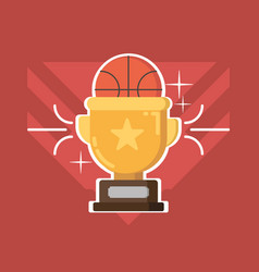 gold cup award vector image