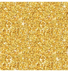 Golden Glitter Background - seamless pattern vector image