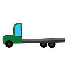 Green truck or color vector