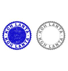 grunge koh lanta textured stamps vector image