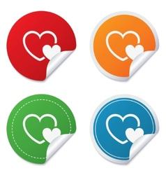 Hearts sign icon Love symbol vector image