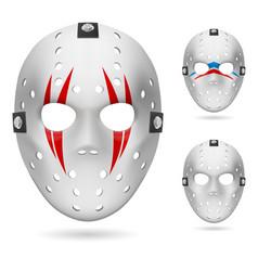 hockey mask on white background for design vector image