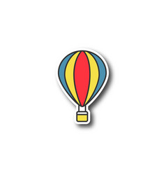 hot air balloon patch vector image