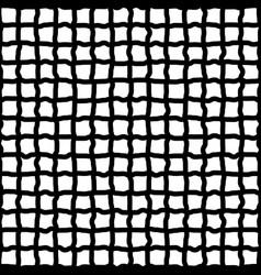 Irregular grid mesh hand drawn sketchy lines vector