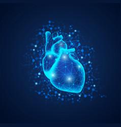 lighting heart vector image