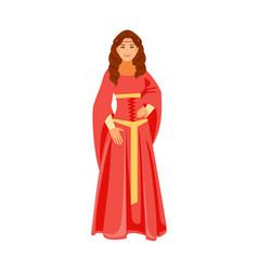 Medieval girl vector