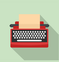 mid century typewriter icon flat style vector image