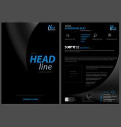 Modern black leaflet design template vector