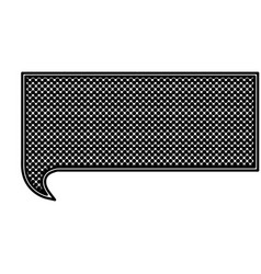 Monochrome silhouette with rectangle speech with vector