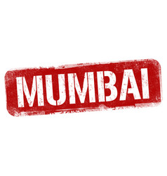 mumbai sign or stamp vector image