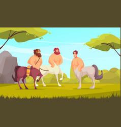 Mythical creatures centaurs vector