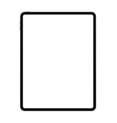 New version of tablet in trendy thin frames design vector