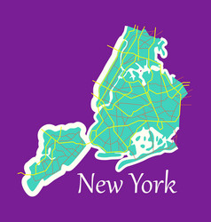 New york city map - flat vector