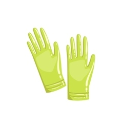 Pair Of Green Rubber Gloves vector