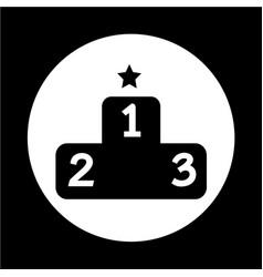 Podium icon vector