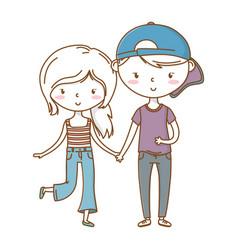 Romantic love couple cute vector