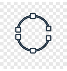 Rotate concept linear icon isolated on vector