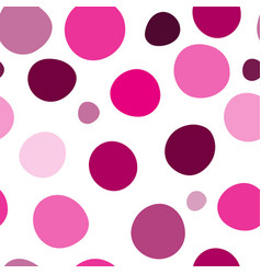 seamless pattern with pink large and small vector image