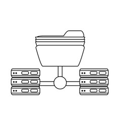 Server web hosting related icon image vector