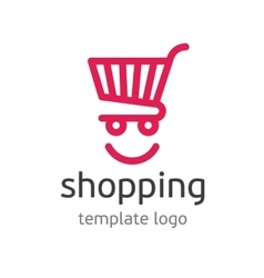 Shopping template logo vector image