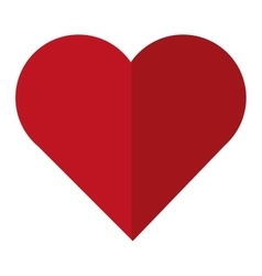 simple red heart vector image