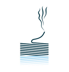 Solder wire icon vector