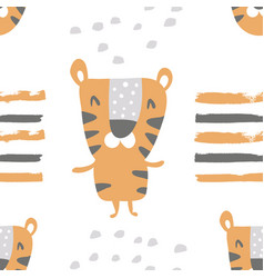 Striped tiger pattern vector