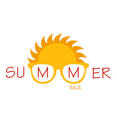 summer sale label vector image