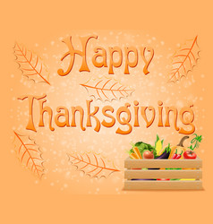 text happy thanksgiving vector image