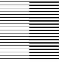 thick and thin parallel lines in a row vector image