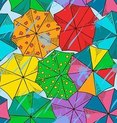 Top of umbrellas seamless pattern vector