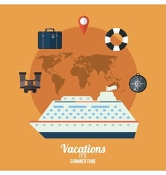 Vacations and travel design vector image