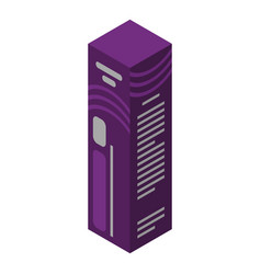 Violet hair dye box icon isometric style vector