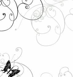 wavy line swirls vector image