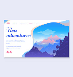 web site for travelers concept new adventures vector image