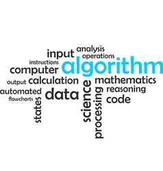 Word cloud algorithm vector