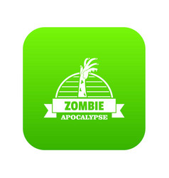 Zombie catching icon green vector