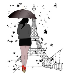 One autumn day in Paris vector image