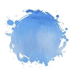 Wedding invitation card with blue watercolor blot vector image vector image