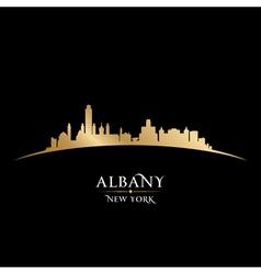 Albany new york city skyline silhouette vector